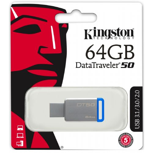 KINGSTON PEN DRIVE 64GB DT50/64G USB 3,1